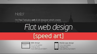 Flat Web Design [Speed Art ]