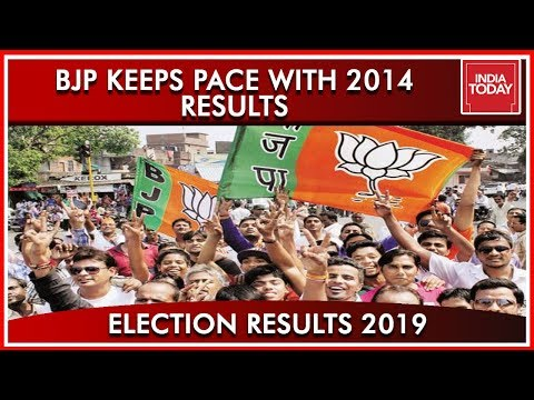 India Today's Comparison Of BJP In 2014 And 2019, Saffron Takes Over Again | Results 2019 (видео)