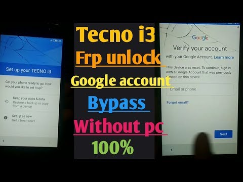 Tecno i3 Frp Bypass Google Account Via Sp Tool without Full Flash