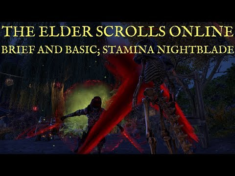 End Game Stamina Nightblade Build- PvE DPS (Updated for