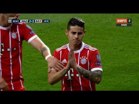 JAMES RODRIGUEZ VS REAL MADRID (AWAY) 01/05/18 HD