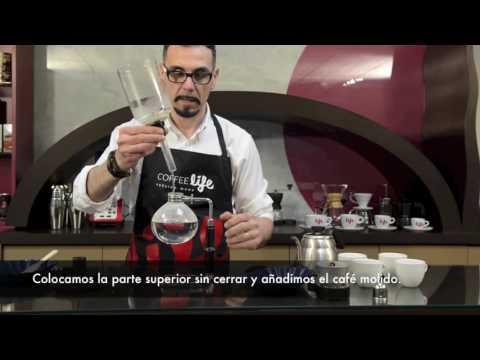 Cómo hacer un café con una cafetera de sifón-vacío