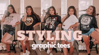 HOW TO STYLE GRAPHIC TEES (oversized/band Tee)