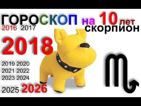 СКОРПИОН 2018, 2016-2026 гороскоп на 10 лет