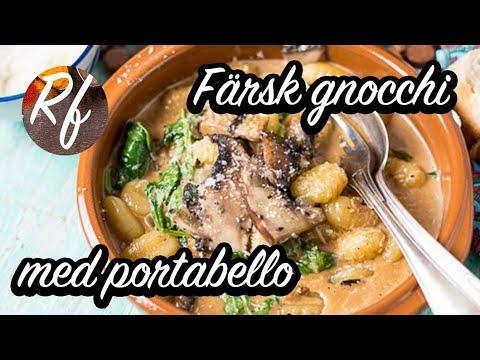 Färsk gnocchi med portabello, parmesan, salvia, spenat, salladslök och grädde samt en touch av tryffelolja. Vegetariskt när det är som bäst. Passar till fest eller vardagslyx.>