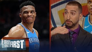 Nick Wright reacts to Westbrook's verbal altercation with 2 Jazz fans   NBA   FIRST THINGS FIRST