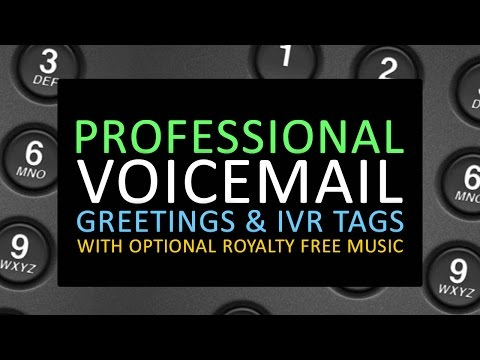Voicemail greetings services fivesquid youtube play video m4hsunfo
