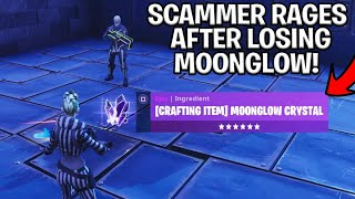 SCAMMER With MOONGLOW Crystal Scams Himself! (Scammer Gets Scammed) Fortnite Save The World