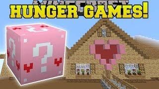 Minecraft: JEN'S GIANT HOUSE HUNGER GAMES - Lucky Block Mod - Modded Mini-Game