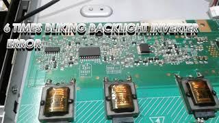 Sony Bravia TV kdl- red blinking led light error codes