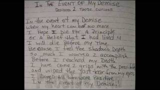 Lady Lash - In The Event Of My Demise, Tupac Tribute! (Blues)