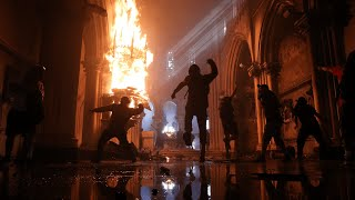video: Churches torched on anniversary of protests in Chile