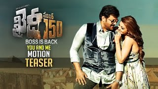 Khaidi No 150 You And Me Song  From 28th Dec  6pm  Motion Teaser  Chiranjeevi  Kajal  TFPC