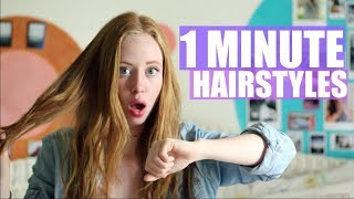 EASY 1 MINUTE HAIRSTYLES FOR SCHOOL | JustAli
