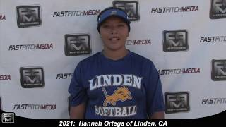 2021 Hannah Ortega Lefty Pitcher Softball Skills Video - Sorcerer