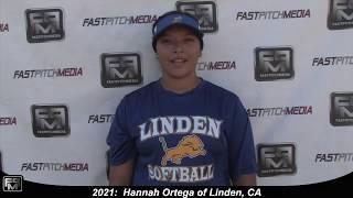 2021 Hannah Ortega Lefty Pitcher Softball Skills Video - Sorcerer