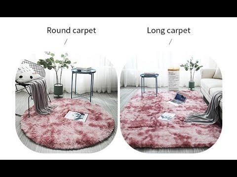 Плюшевые мягкие ковры для гостиной, спальни не скользящие водопоглощающие коврики