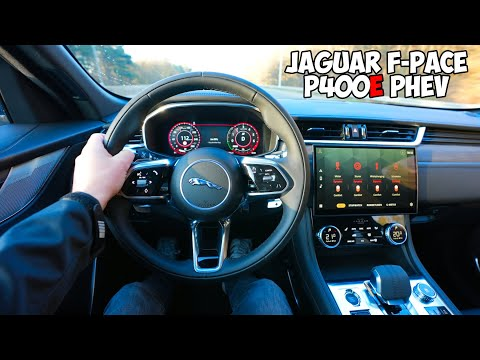 New! Jaguar F Pace P400e 2021 Test Drive : +400Hp PHEV