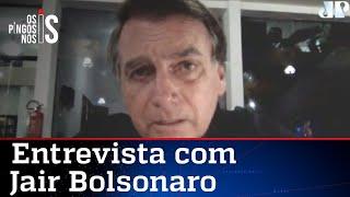 """EXCLUSIVO – Bolsonaro rebate imprensa: """"Não fui à Vila Belmiro"""""""