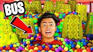 1,000,000 Ball Pits inside a Moving Bus!