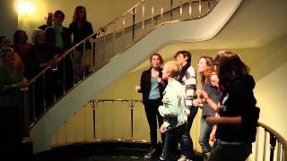 """Smiffenpoofs sing """"Rich Girl"""" at the Alumnae House"""