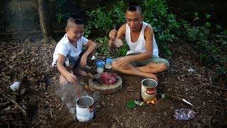 Thịt Trâu Lá Lồm - Ăn Thịt trâu Là Phải Như Này Vừa Thái Vừa Ăn Vừa Hái Rau