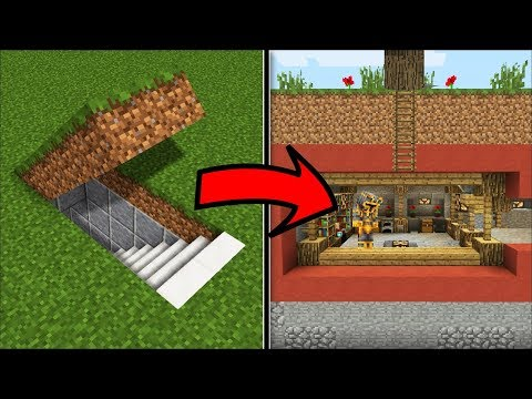 Minecraft HIDDEN SECRET HOUSE MOD / MAKE THIS HIDDEN HOUSE A LOVELY HOME !! Minecraft Mods