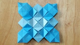 折り紙おりがみ・アジサイの折り方C