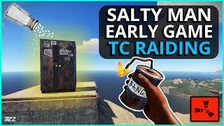 KID Gets SALTY When I EOKA RAID His TC! Rust Solo Survival Gameplay Part 1