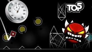 Top 5 Hardest Timing Demons - Geometry Dash
