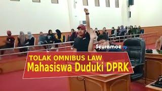 VIDEO - Mahasiswa Duduki Gedung DPRK Nagan Raya Tolak Omnibus Law