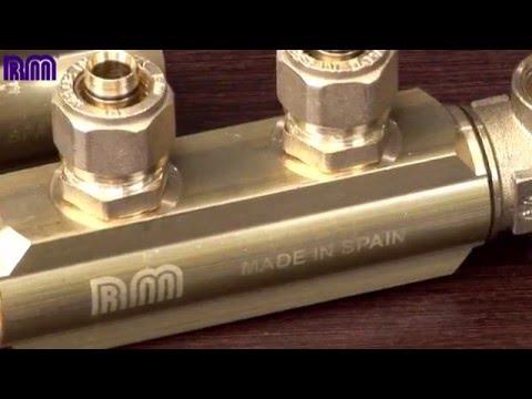 RM racores para tubo PEX y multicapa - instalación de fontanería