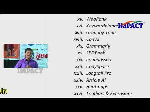 Digital Marketing | Sai Satish |TELUGU IMPACT Hyd Apr 2018-Part2