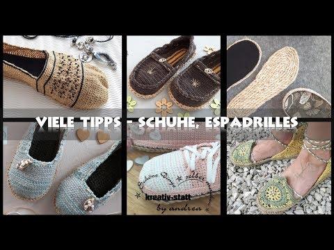 DIY Häkeln Espadrilles - 8 nützliche Tipps für gehäkelte Schuhe Espadrilles [Wie man] DE