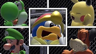 Every Character's Reaction When Smashed By King Dedede's Final Smash In Super Smash Bros Ultimate