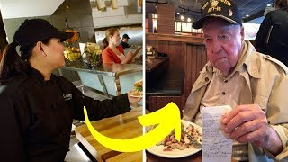 Waitress Is Only Person Nice To Rude Customer, Then She Gets A Call.