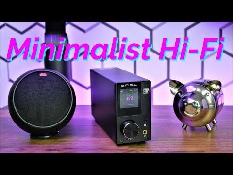 Minimalist Desktop Audio Setup | SMSL AD18 Stereo HiFi Amplifier Review
