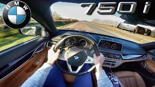 BMW 7 series 750i TOP SPEED 4.4 V8 BiTurbo 260 km/h on AUTOBAHN | xDrive & M Sport