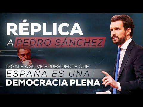 Réplica de Pablo Casado a Pedro Sánchez en el deba...