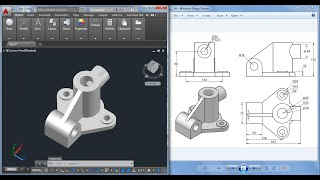 Autocad 3D practice drawing: SourceCAD