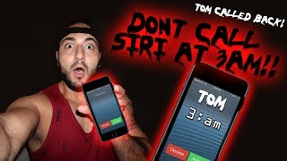 DONT TALK TO SIRI AT 3 AM // TALKING TO SIRI IN TOMS HOUSE AT 3 AM // TOM CALLED ME BACK!!