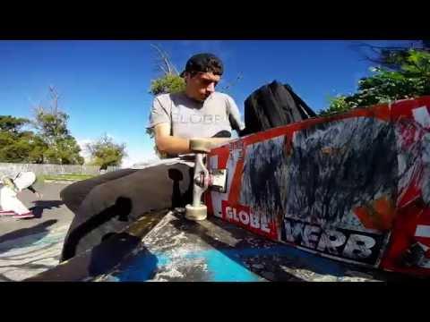 Byron Rhoda skates the Durbanville park