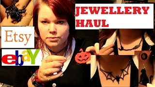Gothic Jewelry Haul - Etsy And Ebay