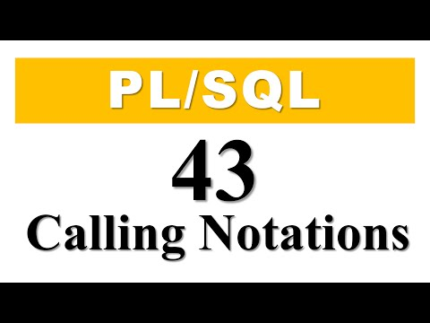 PL/SQL tutorial 43: Calling Notation for PL/SQL Subroutines in Oracle Database By Manish Sharma