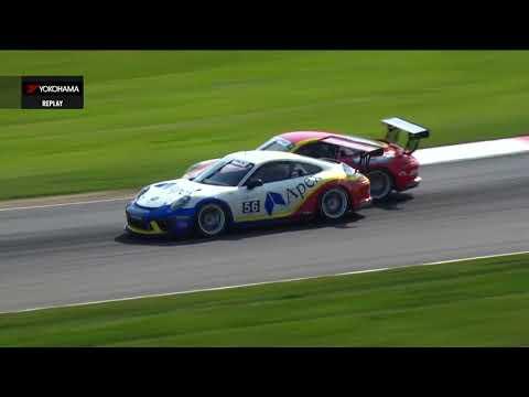 Porsche GT3 Cupミッドオハイオの決勝レース2の模様を55分にまとめたハイライト動画