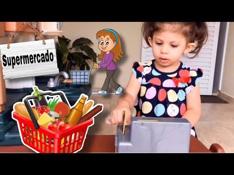 DUDA E PEPPA BRINCANDO NO SUPERMERCADO DE BRINQUEDO | Duda Carli
