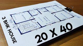 20 X 40 House Plan II 800 Sqft House Plan II 20 X 40 GHAR KA NAKSHA