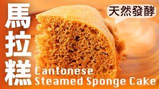 【Eng Sub】酵母馬拉糕  只要加入一種食材就沒有發酵味   沒有泡打粉 小蘇打 吉士粉 人工香料 Cantonese Steamed Sponge Cake 點心教學