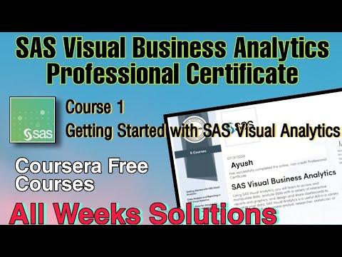 [Course 1] SAS Visual Business Analytics Solutions | SAS ...