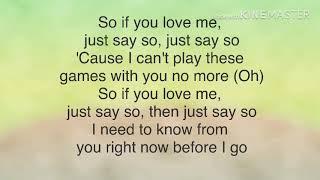 Say So - Pj Morton Ft JoJo (LYRICS)